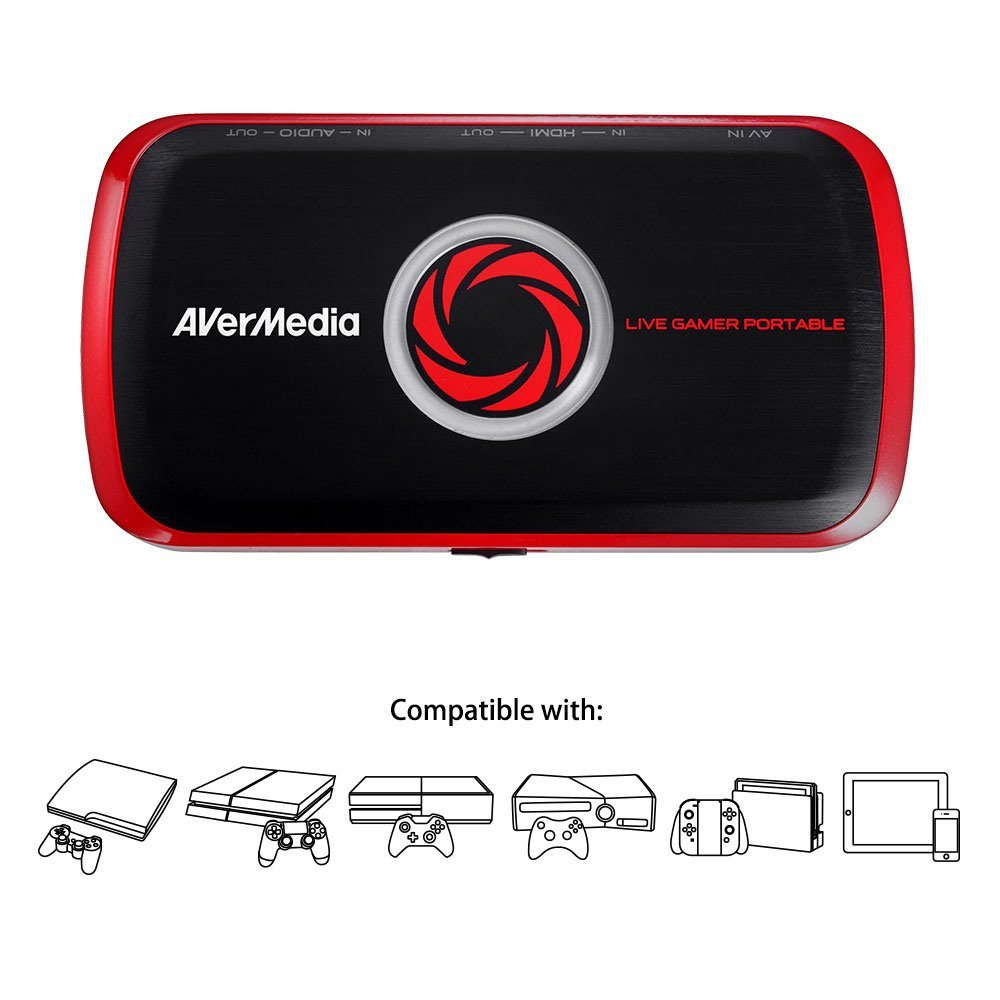 H.264 Hardware Encoding AVerMedia Live Gamer Portable USB Video Capture High Definition Game Capture C875 Ultra Low Latency Recorder Full HD 1080p Recording Without PC Directly to SD Card Streaming