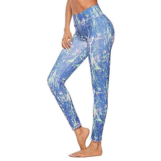 Wuxingqing Pantalones de Yoga elásticos Ajustados para Mujer ...