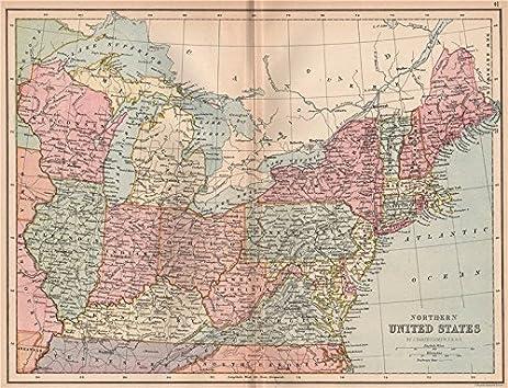 Amazoncom USA NORTH EAST Atlantic States Midwest BARTHOLOMEW - Us map midwest