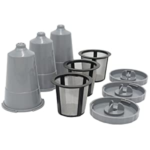BRBHOM Reusable Capsules Pods Coffee Filters Replacement (3, Gray)