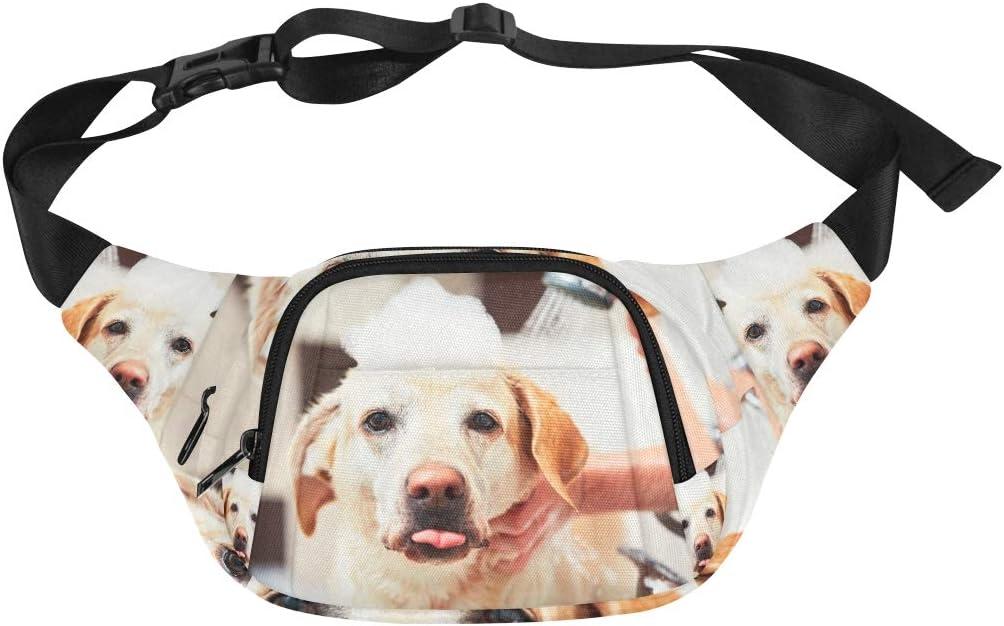 Funny Labrador Retriever Puppy Fenny Packs Waist Bags Adjustable Belt Waterproof Nylon Travel Running Sport Vacation Party For Men Women Boys Girls Kids