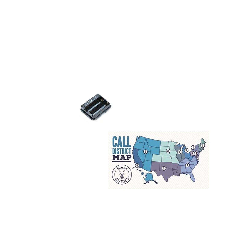 Yaesu AA (X2) CASE FOR VX-5R/6R/7R and Ham Guides TM Pocket Reference Card Bundle