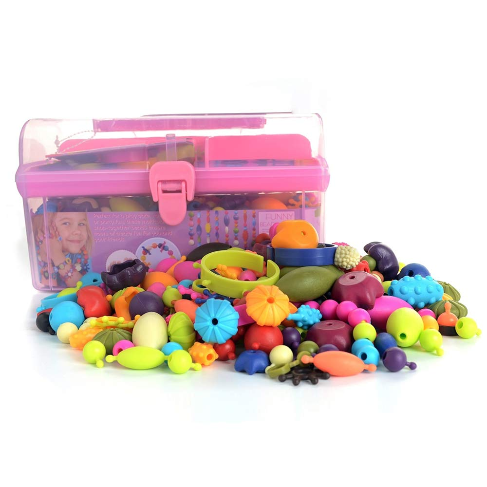 5 Gili Pop Beads 7 Year Old Girls Necklace and Bracelet and Ring Creativity DIY Set 6 Jewelry Making Kit for 4 Arts and Crafts Toys Gifts for Kids Age 4yr-8yr 500 PCS