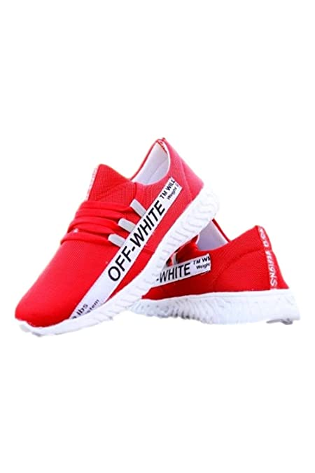Prince Off White Red Shoe: Amazon.in
