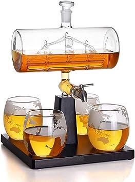 DZHTSWD Whisky la Jarra Simple de Vela Decanter 5 Pieza ...