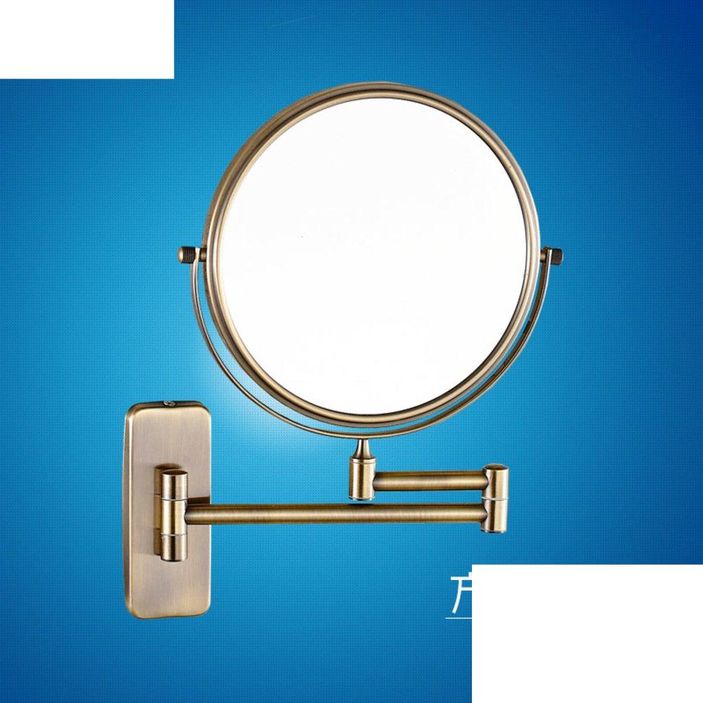 Bathroom wall mount makeup mirror/ folding mirror/ toilet telescopic ...