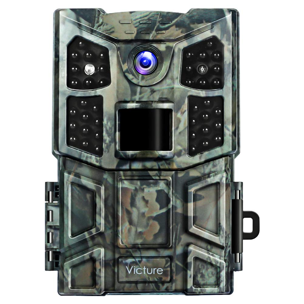 Victure Trail Game Camera 20MP with Night Vision Motion Activated 1080P Wildlife Hunting Camera No Glow with 0.2s Trigger Speed and Upgrade Waterproof Design for Outdoor Surveillance