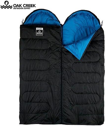 Queen Blue Single Double Oak Creek Double Sleeping Bag Bundle Black