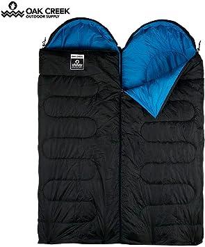 Amazon.com: Oak Creek - Saco de dormir doble | Dos sacos de ...