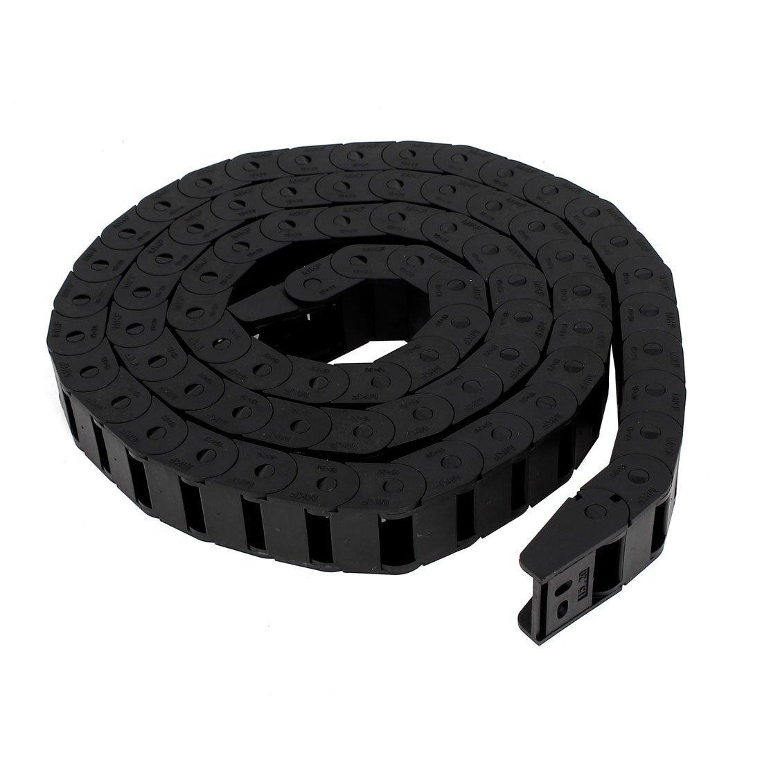 15x20mm de plá stico semi flexible de 152 cm de cadena de arrastre cerrado portacables DealMux DLM-B00X7C0MS8