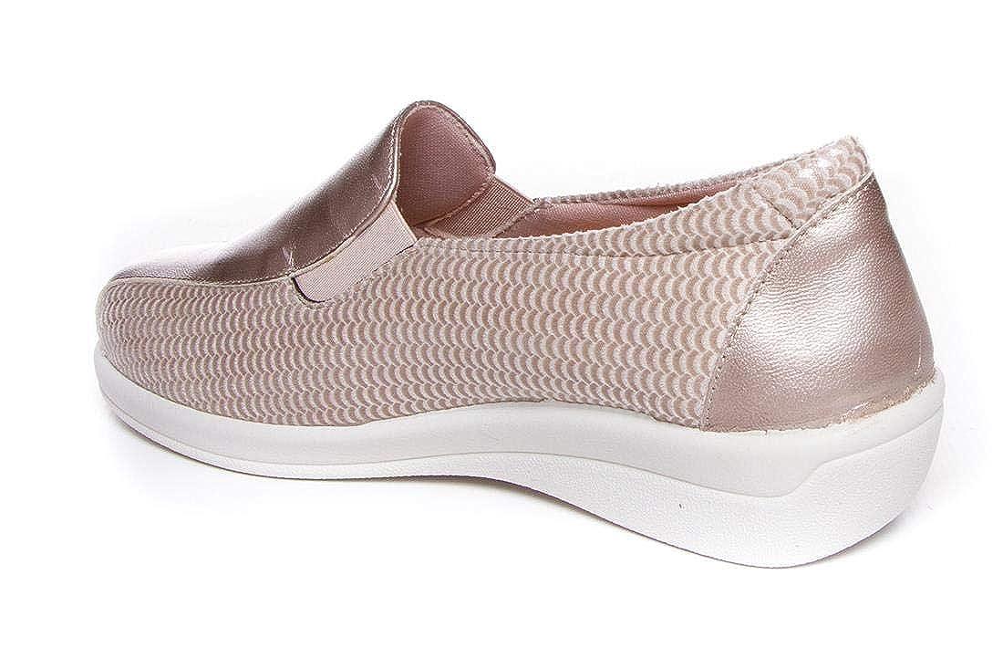 Doctor Cutillas 43624 Beig Zapato mocas/ín Muy c/ómodo con Licra Adaptable Ancho Especial