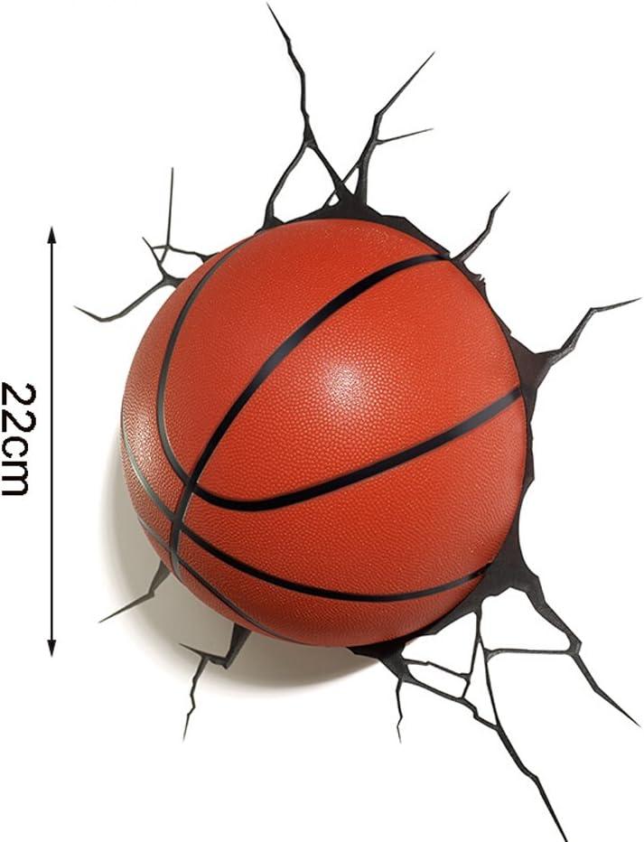WANGLucky Mini Bola de Baloncesto Creativa 3D lámpara de Pared Moderna Dormitorio Escalera de luz Pasillo lámpara LED Europea lámpara de la habitación de los niños 22 cm: Amazon.es: Hogar