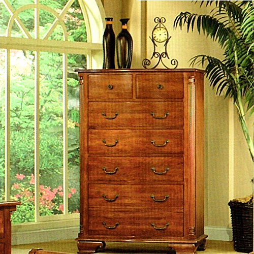 Heritage Cherry Vanity (Amanda Home Bedroom Collection American Heritage Solid Cherry Wood 6-Drawer Chest)