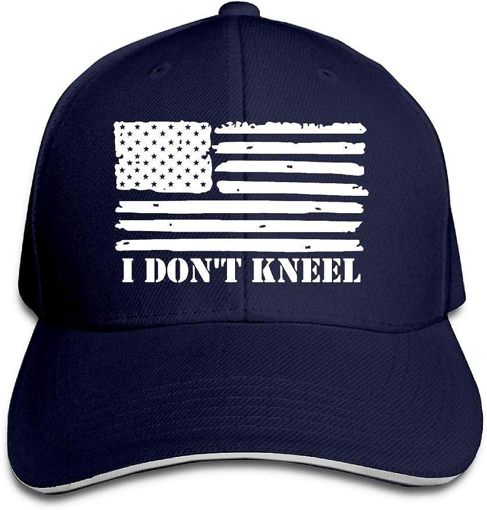 JustQbob1 I Dont Kneel Outdoor Snapback Sandwich Cap Adjustable Baseball Hat Dad Hat