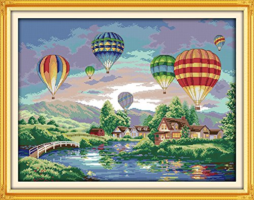 Cross stitch kits for hot air balloon - Eafior DIY Handmade
