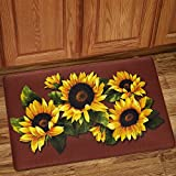 Sweet Home Collection Non Skid Rug, 30'' x 18'', Black Eyed Susan