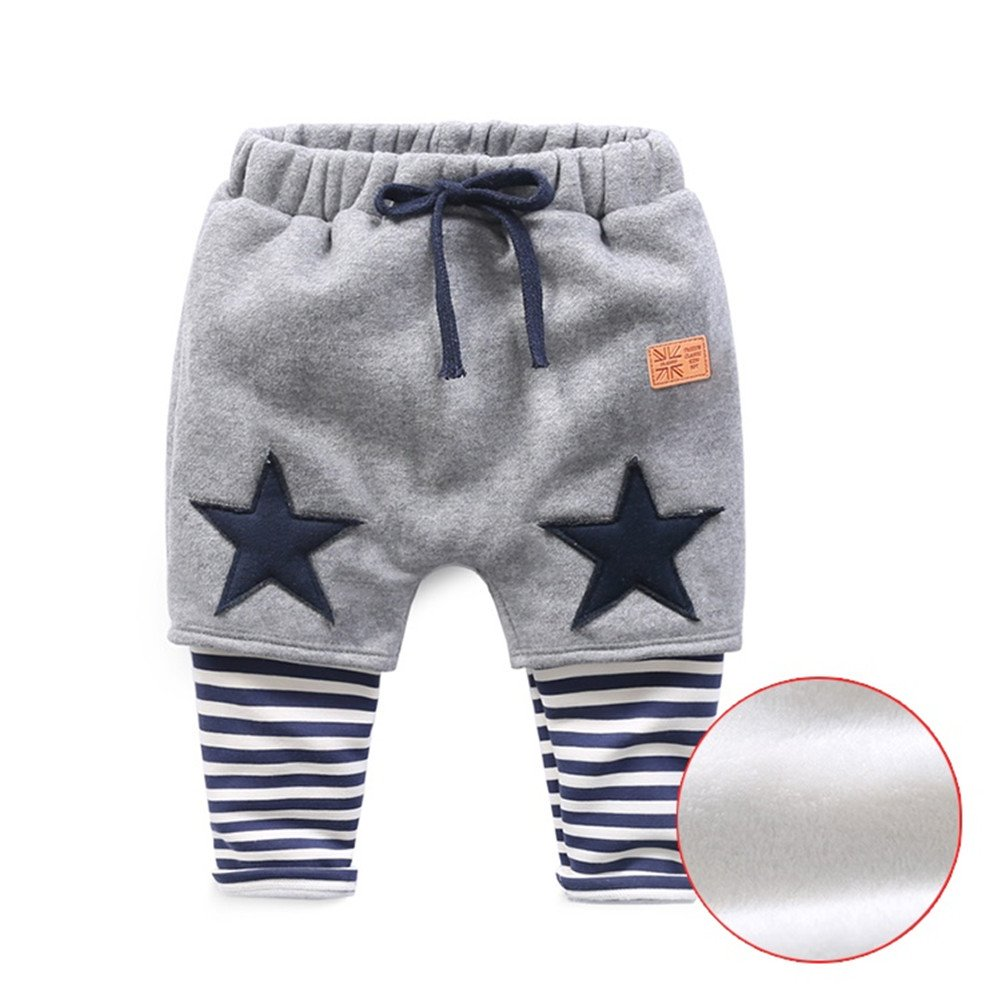Mud Kingdom Toddler Boys Stars Fleece Sweatpants Patchwork