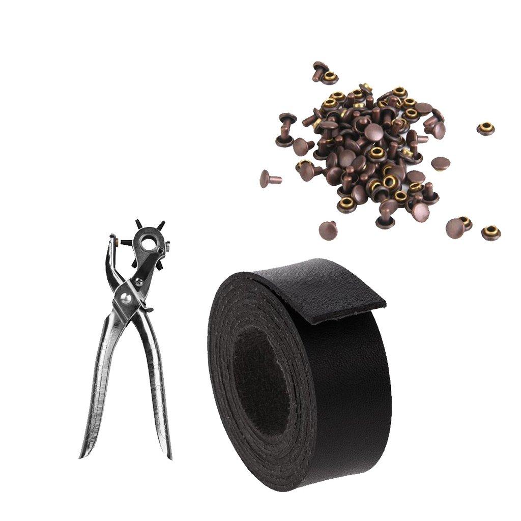 Sharplace Pince De Perforation Avec Bande En Cuir Single Et Rivet Idé al Pour Fabrication De Ceinture