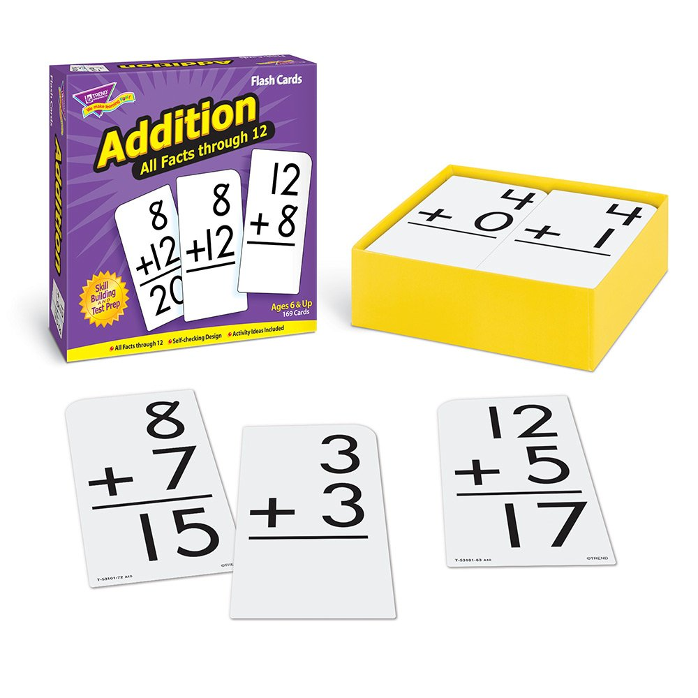 worksheet Addition Flash Cards amazon com addition 0 12 all facts flash cards toys games
