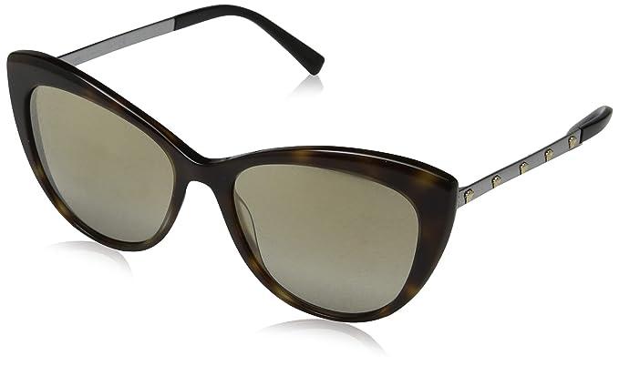 Versace 0VE4348 Gafas de sol, Dark Havana, 57 para Mujer ...