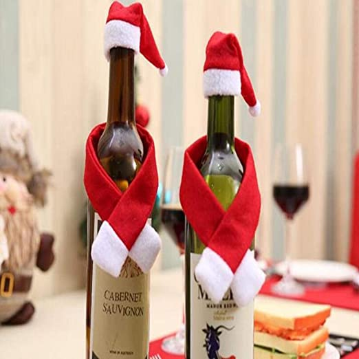 Tapa de la Botella de Vino de Navidad Decoraciones navideñas para el hogar Santa,Claus Stocking Titulares de Regalo Decoración de Navidad Año Nuevo 2019: Amazon.es: Hogar