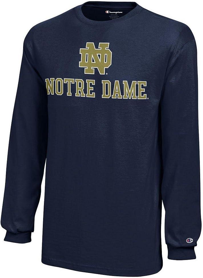 Elite Fan Shop Notre Dame Fighting Irish Kids Long Sleeve Tshirt Navy