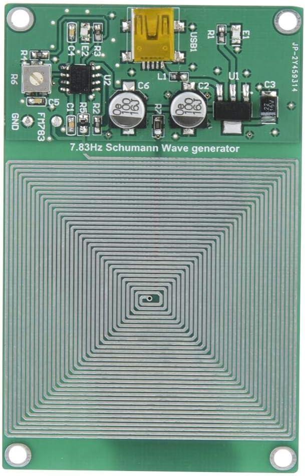 Dpofirs Mini-USB-Impulsgenerator 7,83 Hz Schumann Wave Ultra-Niederfrequenz-Impulsgenerator Hochgenauer und Stabiler Generator zur Unterst/ützung des Schlafes//der Ruhe von K/örper und Geist