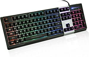 LESHP RGB Gaming Keyboard with Individually Backlit Keys