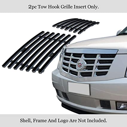 APS Compatible with 2007-2014 Cadillac Escalade Stainless Steel Black Bumper Billet Grille S18-J28466A