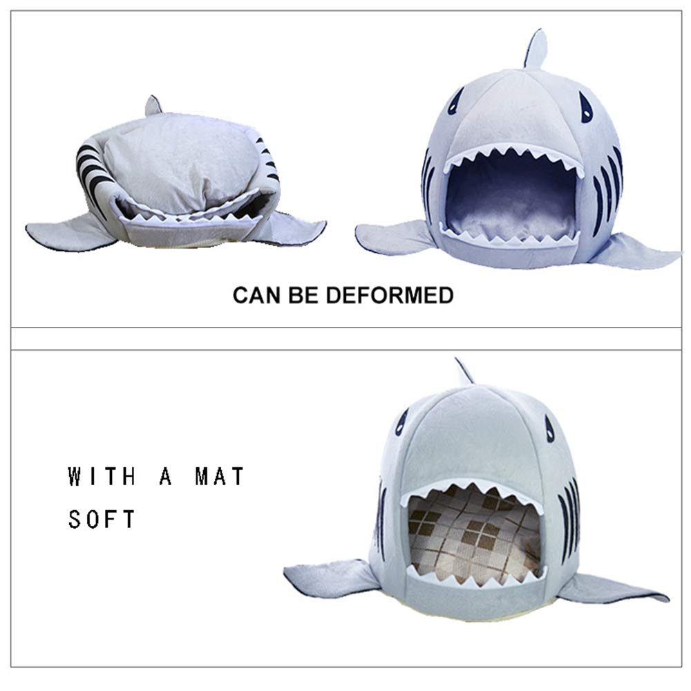 BOOB Shark Dog Bed Cat Beds /& Mats House Pet Sleeping Sofa Bed Small Medium Pet Bed Kitten Indoor House Kennel Washable Mat Grey S