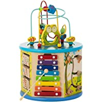 Activity Cube For Toddlers 1-3   Educational Toys 8-in-1 Learning Center for Boys & Girls   Xylophone - Spin Gear - Flip…