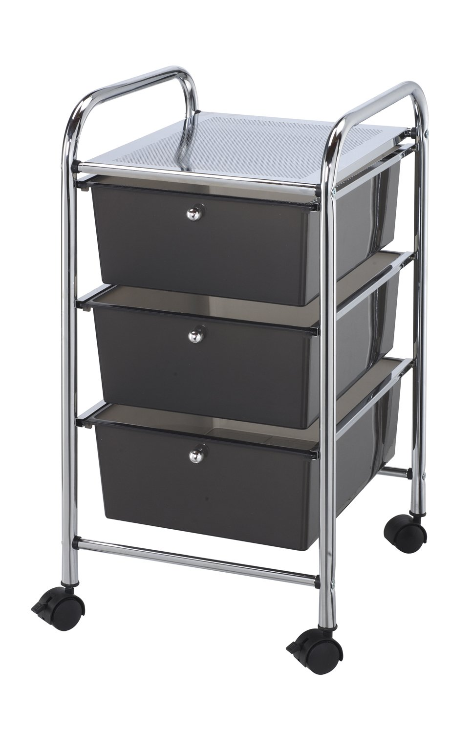 Blue Hills Studio SC3SM 13-Inch by 26-Inch by 15-1/2-Inch Storage Cart with 3 Drawers, Smoke by Blue Hills Studio