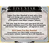 2018 Topps Five Star Hobby Edition Factory Sealed 1 Pack Box - Baseball Player Sets