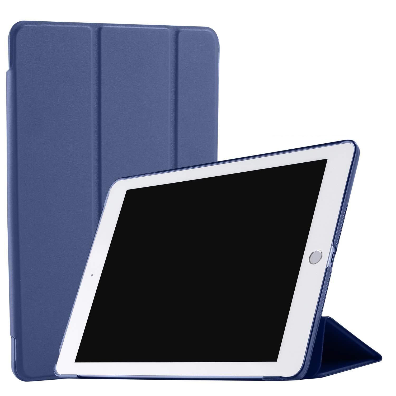 "DuraSafe 三つ折り ウルトラスリム スマートカバーケース 半透明バック iPad PRO 12.9"" 1st Gen(2015) DSTriFold1217 iPad PRO 12.9\ ネイビーブルー B07LFZ3KRM"