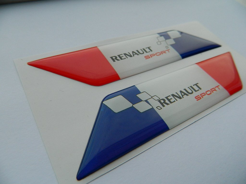 X2 SET OF RENAULT SPORTS FRANCE FLAGE BADGE EMBLÈ MES AUTO-BADGES