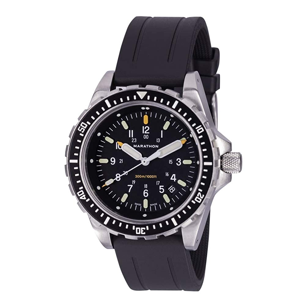 Marathon Watch WW194018 JSAR Swiss Made Military Jumbo Diver s Watch with MaraGlo Illumination, Sapphire Crystal 46mm