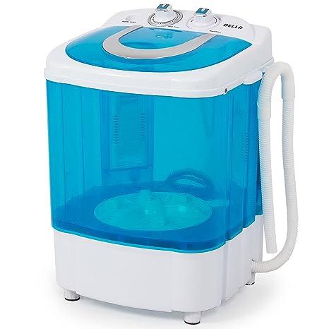 Awesome DELLA Electric Small Mini Portable Compact Washer Washing Machine (8.8 LB  Capacity), Blue