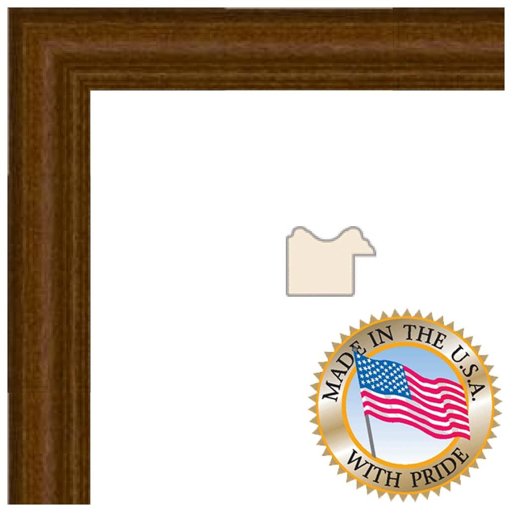 16x20 Honey Stain on Hard Maple Picture Frame - 1'' wide with Regular Glass and Foam Backing by ArtToFrames