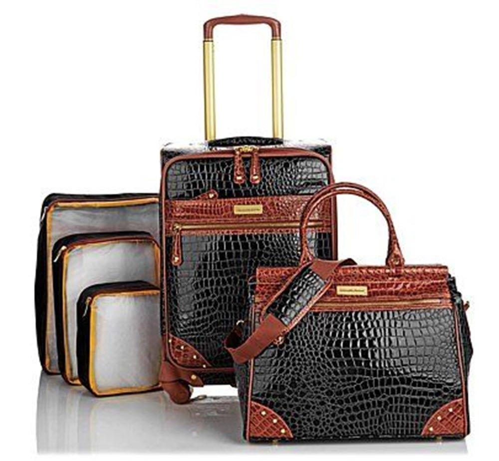 Samanthaブラウンクラシックブラック5 Piece Luggage Set 21