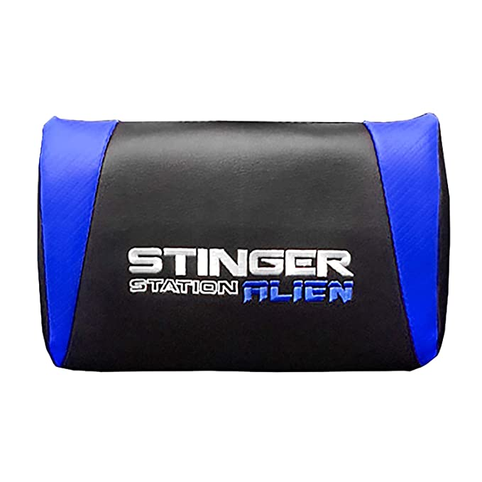 Woxter Stinger Station Alien V2.0 Blue - Silla gaming con eje de acero, levantamiento gas pistón clase 4, ergonómica, reposabrazos acolchados, altura ...