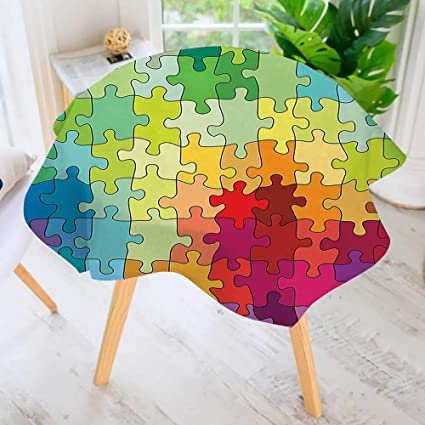 Amazon Com Uhoo2018 Printed Pattern Washable Table Cloth Puzzle