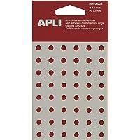 APLI 228 - Arandelas de refuerzo translúcidas 13 mm 96 u.