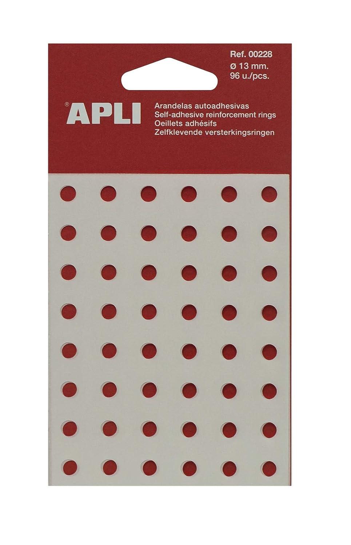 APLI 228 - Bolsa con 96 arandelas translúcidas (13 mm): Amazon.es: Oficina y papelería