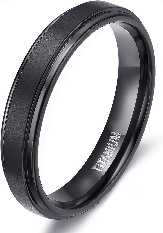 Details about  /Titanium Roman Numerals 6 MM Satin Polished Flat Wedding Band