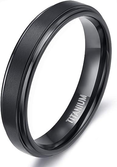 Mens Black Titanium Wedding Band Hypoallergenic Titanium Black Ring Mens Black Titanium Ring Rings Titanium Band Black Titanium Ring