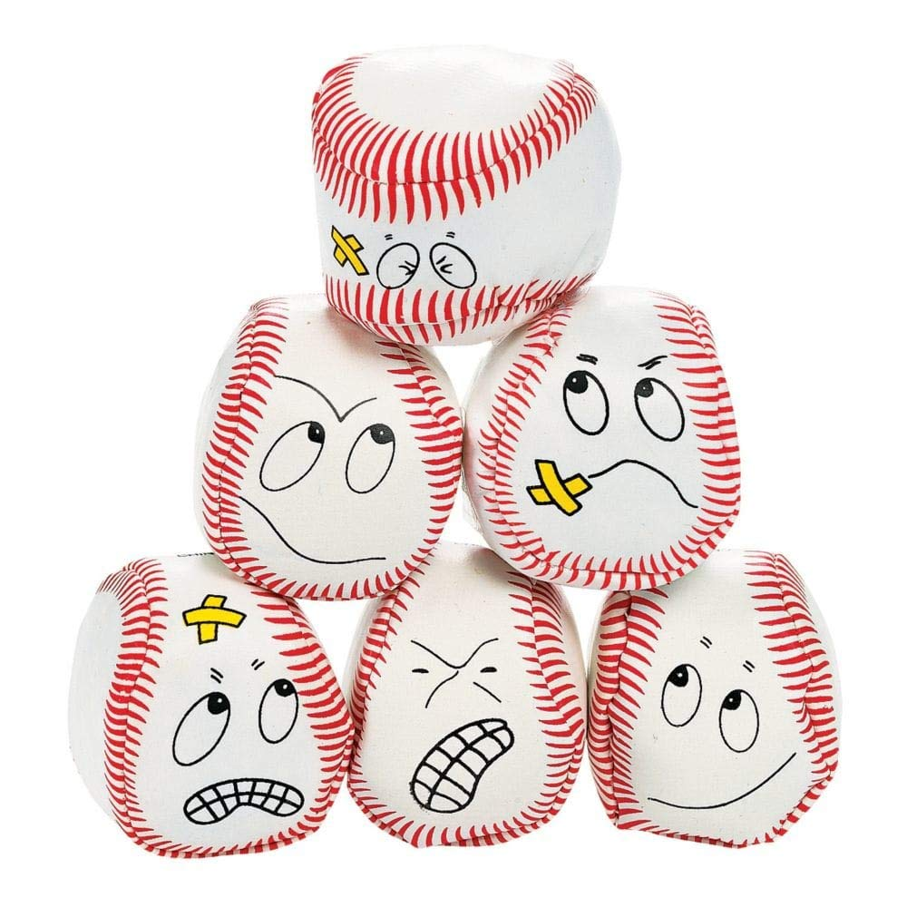 12 silly face Vinyl Baseball Kick Balls wholesale-distributor 3L-12-177