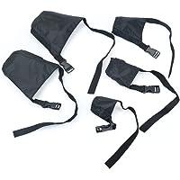 Idepet 1SET Dog Muzzles Suit,5PCS Adjustable Dog Mouth Cover Anti-Biting Barking Muzzles for Small Medium Large Extra…