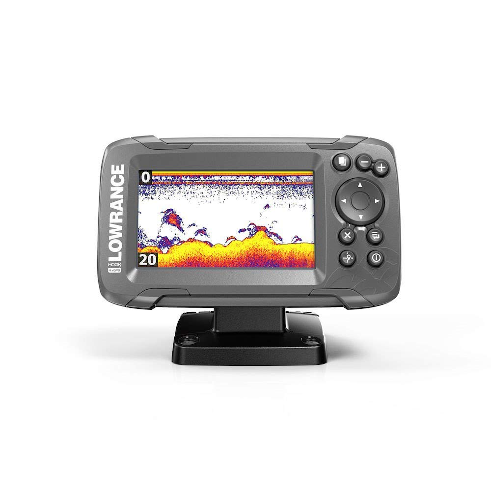 Lowrance HOOK2-4x 4'' Fishfinder with Bullet Transducer and GPS Plotter
