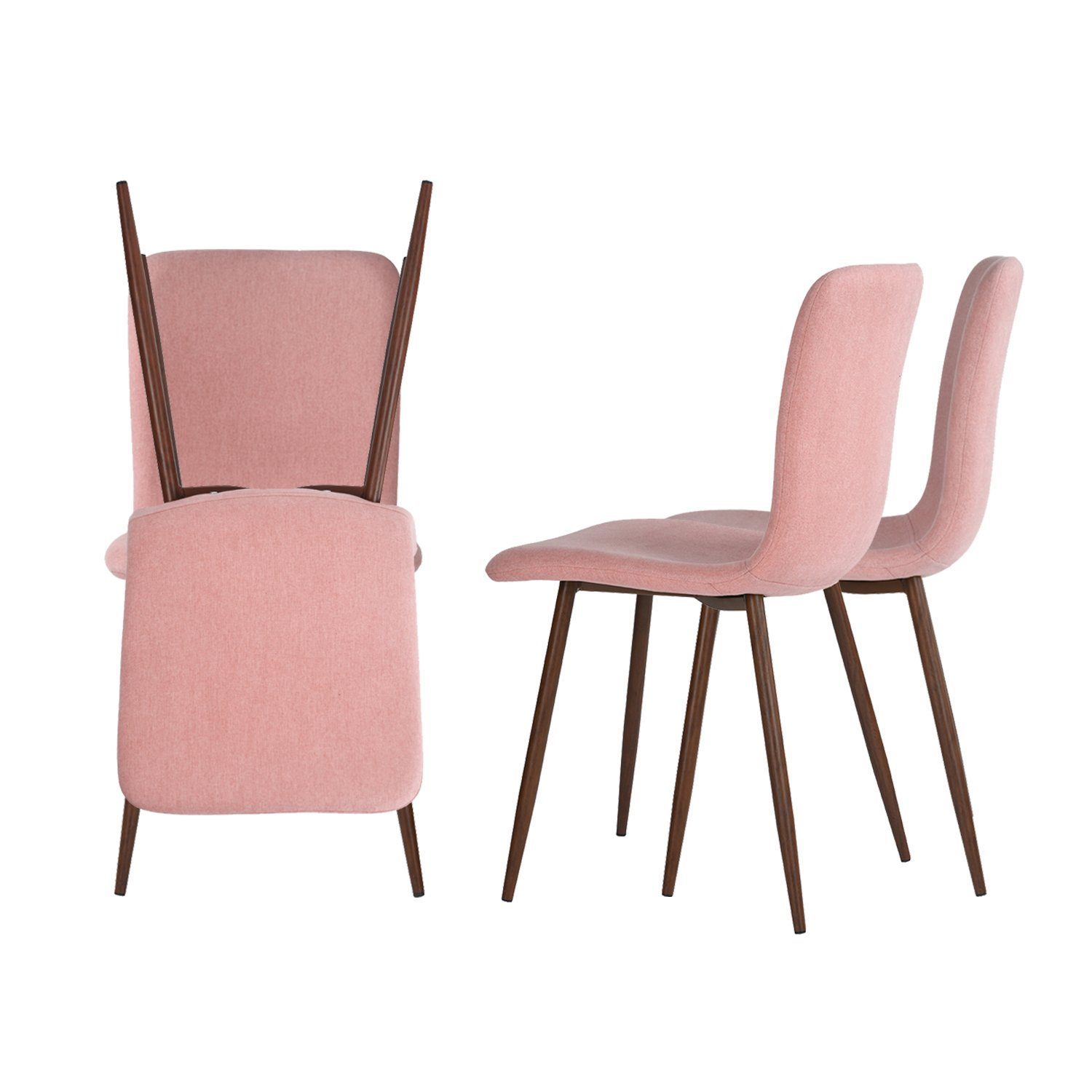 Coavas Kitchen Dining Chairs Set Of 4 Fabric Cushion Side