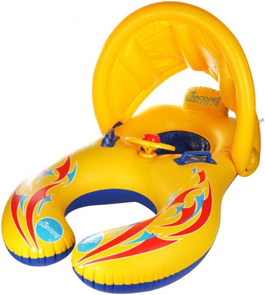 HONGCI - Flotador de natación para madre y bebé con toldo ...